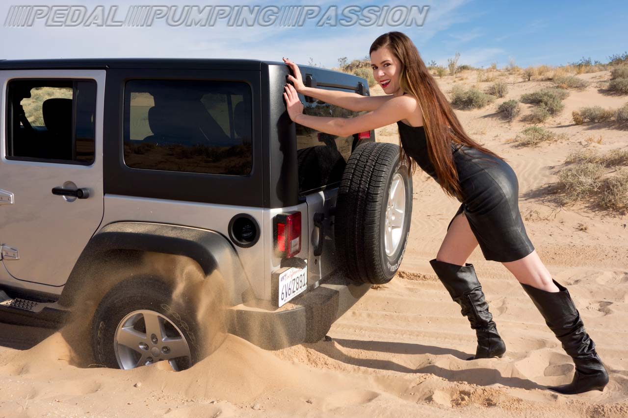 car stuck and pedal pumping in overknee high heel leather boots. Black Bedroom Furniture Sets. Home Design Ideas